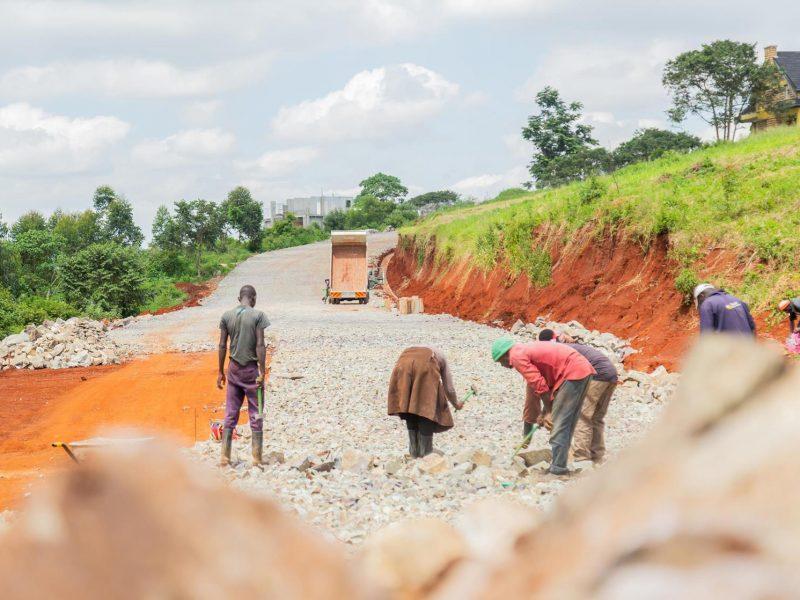 Migaa Golf Estate Infrastructure Updates - Road Construction Spine Road 3
